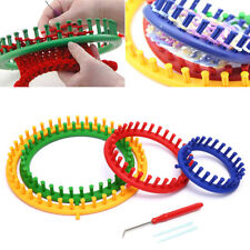 7pcs Round Knitting Loom Needles Set Knit Circle DIY Handmade Hat Scarf to W9