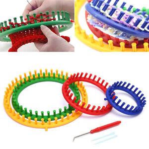 7Pcs Round Knitting Loom Needles Set Knit Circle DIY Handmade Hat Scarf To Q_BI