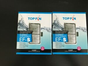 Two pkg 6 filters Top Fin Element Filter Carbon Cartridges EF-S 12 Month Supply