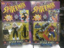 Spiderman Spider-Wars 2 figure lot Black Cat Cyborg Spidy moc sealed Toy Biz 96