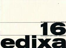 EDIXA 16 - Prospekt Broschüre - Kameras Projektoren - B20483