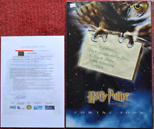 Harry Potter Original Prop Envelope Mounted in Poster - PS SS Philosophers Stone