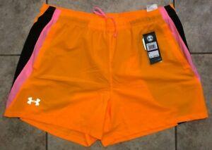 "Under Armour Launch 5"" Running Shorts Orange 1326571 Mens Sz 2XL NWT"