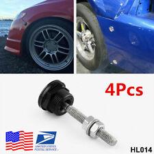 4Pcs 22mm Push Button Bonnet Hood Pin Lock Clip Kit Car Quick Release Latch -USA