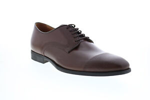 Geox U New Life Mens Brown Leather Oxfords & Lace Ups Cap Toe Shoes