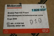 1820037 BRAKE PADS new genuine Ford part