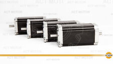 US free! 4PCS Nema23 23HS2442B stepper motor 112mm,4.2A,425oz,dual shaft,CE,ROSH