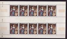 MONACO  tableau en feuille de 10   princesse  Louise Hippolyte   num: 798   **