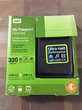 Western Digital WD3200ME 320GB My Passport Essential External Hard Drive USB 3.0