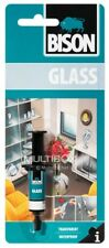 BISON GLASS GLUE FAST,CRYSTAL CLEAR, WATERPROOF,MAKES ALL CRACKS INVISIBLE,METAL