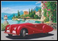Canvas print 1938 Alfa Romeo 6C 2500 SS Pininfarina Spider by Toon Nagtegaal LEF