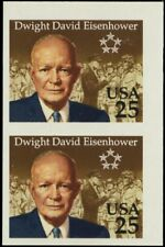 2513P, MNH XF Imperforate Pair 25¢ Eisenhower Proof Cat $875.00 - Stuart Katz
