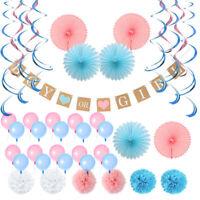 43Pcs/set Girl or Boy Room Paper Decoration Kit Baby Shower Gender Reveal Party