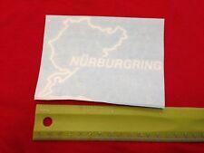 "Nurburgring 5"" WHITE Vinyl Sticker Decal Car Truck window bumper euro track edm"