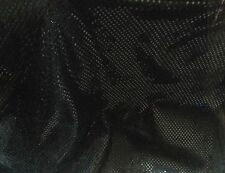 """Black Spot / Dotty Foil Mesh Fabric by the metre - 112cm or 45"""" wide"""