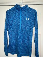 UA UNDER ARMOUR Womens 1/2 ZIP pullover Activewear SIZE M  BLUE