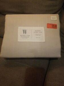 Wamsutta Vintage 100% Linen sheet set FULL /  DOUBLE mark $179 natural beige NEW
