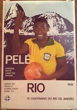 MANIFESTO POSTER ,1965,PELE',RIO,BRASILE,CALCIO FOOTBALL,Seleção,Mundial Soccer