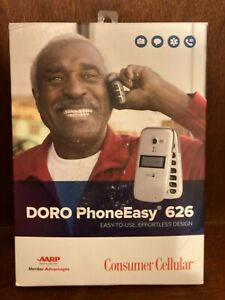 NEW IN BOX Consumer Cellular Doro PhoneEasy 626 Cell Phone — Silver