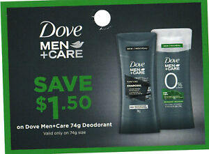 save on DOVE MEN+CARE deodorant + Bonus [Canada]