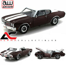 AUTOWORLD AMM1011 1:18 1970 CHEVROLET CHEVELLE SS 454 BLACK CHERRY