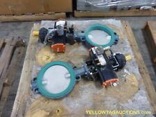 "Lot of (2) 10"" EBRO Armaturen Butterfly Valves w/Actuators, UNUSED"