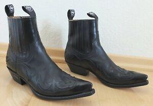 SENDRA  Cowboystiefel Boots schwarz Flammenmuster  NEU 289 Euro  Gr. 43  SUPER !
