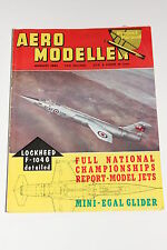 Vintage Mag: Aero Modeller August 1962, Aircraft Plans/Drawings/Lockheed F-104G