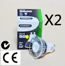 2 X GU10 240V 6W LED Warm White Downlight 400Lumens!!!