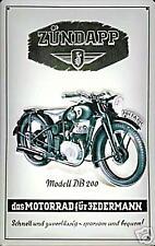 Zundapp DB200 German embossed steel sign (hi 3020)