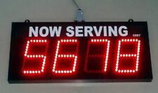 "4 Digit LED NUMBER Display, 4"" high Digits ( TAKE A NUMBER SYSTEM )"