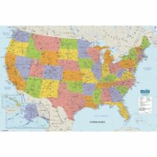 House of Doolittle Write On/Wipe Off Laminated United States Map 38x25 Inch (AA)