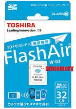 Genuine Toshiba 32GB 32G FlashAir SDHC SD Card Wifi Class 10 Wireless Retail W03