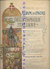 ARALDICA - Album d'onore delle famiglie italiane-A.I, n.4 1900(Calangianus..)