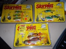 Lot 8-Fishing SLURPIES Swim Shiner Bait Lures Hooks Salted/Spiced Fish open>L@@K