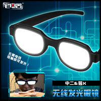 Hot Japanese Anime Cosplay Funny Prop LED Glowing Glasses Black Glasses Gift #G1
