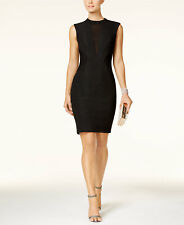 Bardot Mesh Inset Snakeskin Sleeveless Black 8 Dress New