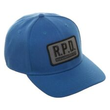 RESIDENT EVIL RPD RACCOON POLICE DEPARTMENT BLUE CURVED BILL SNAPBACK HAT CAP