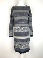 White Stuff Knitted Jumper Dress Size 12 Fair Isle With Cotton & Yak Soft Cosy