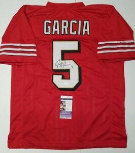 JEFF GARCIA Signed Autographed SAN FRANCISCO 49ERS sz XL Jersey. JSA