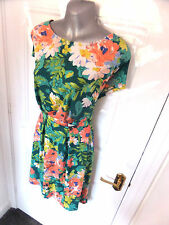 ❤ SOUTH Gorgeous Ladies Size 14 Green Peach Lime Mix Stretchy Dress NEW!!