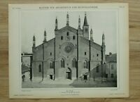 Architektur 1902 Pavia Italien Sta Maria del Carmine Kirche 1373  26x34cm