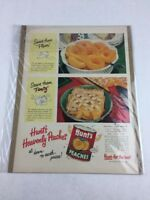Vintage Hunt's Peaches Canned Food Art Promo Print Collectible Ad 10 x 14