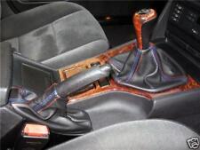 Cuffie leva cambio e freno BMW Serie 5 E39 vera pelle nera