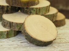 10-60 Wood Tree Slices 3-10cm Rustic Wedding Table Craft Decor Natural logs Eco