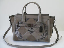 Coach Swagger Patchwork Leather Satchel Shoulder Handbag 37190