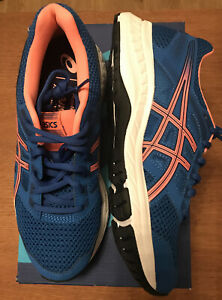 Asics Gel  Contend 5 Women Trainers Uk Size 4 Col Lake Drive/Sun Coral Brand New