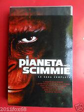 cofanetto box 6 dvds il pianeta delle scimmie saga completa planet of the apes f