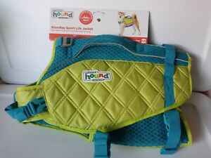 Outward Hound Standley Sport Life Jacket Large Green Blue 55-85 Lbs 28-32 Inches