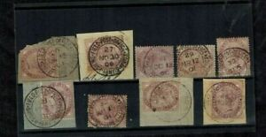 Boer War Various Cancels on GB Stamps RARE